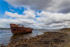 Falklandinseln - Rund um Stanley - noch ein Wrack