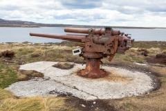 Falklandinseln - Rund um Stanley -Relikte aus dem Krieg von 1982