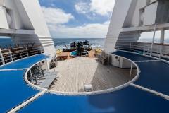 Ocean Diamond - offener Bereich von Deck 6 gesehen von Deck 7