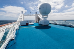 Ocean Diamond - Blick vom Sports-Deck