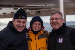 Cierva Cove: links Alex aus Russland, der Servicechef, Rechts Günther aus Österreich, der Küchenchef
