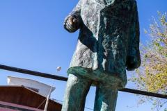 Ein Denkmal für Pablo Neruda in der Nähe von La Sebastiana.