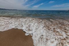 Und das erste mal am Strand gewesen. Diese Seite vom Pazifik ist schon noch ganz schön frisch ;-)