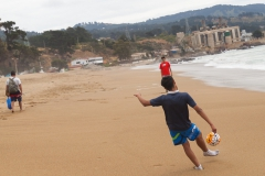Strandfußball bei 15 Grad ;-)