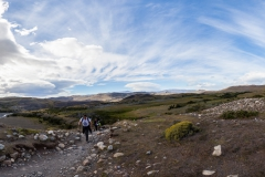 Torres del Paine: die Sonne schien, aber den Wind kann man nicht fotografieren.