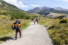 Torres del Paine: mit vollem Gepäck bergauf