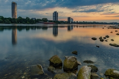 Bonn - Rhein, Posttower und UN Tower