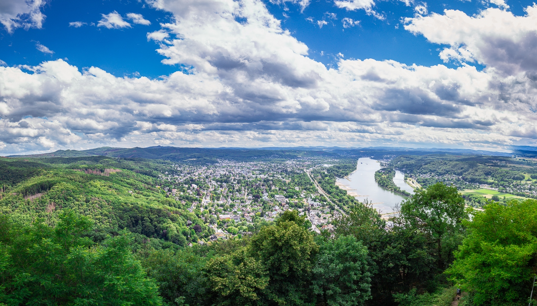 Blick vom Drachenfels im Siebengebirge